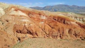 Vallei van de landschappen van Mars stock video