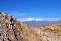 Vallei van de Maan - Valle DE La Luna, Atacama-Woestijn, Chili stock afbeeldingen