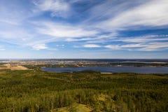 Vallei van de meren in het bos royalty-vrije stock foto
