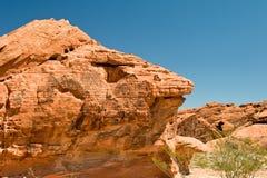 Vallei van de rotsvorming van de Brand Royalty-vrije Stock Afbeeldingen
