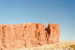 Vallei van de rotsvormingen van de Brand Stock Afbeeldingen