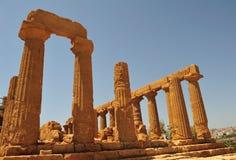Vallei van de tempels in agrigento 2 Stock Fotografie