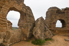 Vallei van de Tempels, Agrigento, Sicilië, Italië. Royalty-vrije Stock Foto