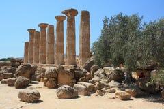 Vallei van de Tempels, Agrigento, Sicilië, Italië Stock Foto
