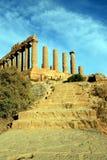 Vallei van de tempels Griekse ruïnes, Agrigento Italië Stock Fotografie