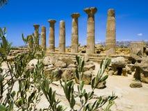 Vallei van de Tempels Sicilië Italië Royalty-vrije Stock Afbeelding