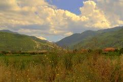 Vallei van de zomer de mooie bergen Royalty-vrije Stock Fotografie