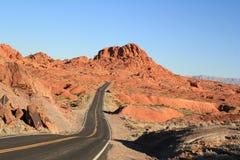 Vallei van het Park van de Brandstaat, Nevada Stock Foto