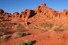 Vallei van het Park van de Brandstaat, Nevada Stock Afbeelding