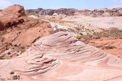 Vallei van het Park van de Brandstaat in Nevada, de V.S. stock afbeeldingen