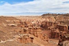 Vallei van Kastelen in Sharyn Canyon Royalty-vrije Stock Afbeeldingen