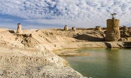 Vallei van monumenten, woestijn van Negev, Israël Royalty-vrije Stock Foto