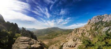 Vallei van spoken crimea Panoramische landschapsmening Stock Foto