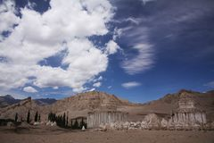 Vallei van stupas in Leh stock foto's