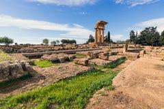 Vallei van Tempelsvalle de ruïnes van deitempli Royalty-vrije Stock Foto's