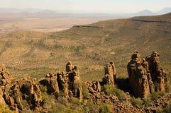 Vallei van Verlatenheid in het Nationale Park van Camdeboo Stock Foto