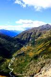 Vallei in Zwitserland Royalty-vrije Stock Afbeeldingen