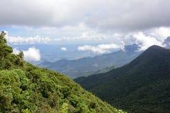 Valleien en bergen Stock Afbeelding