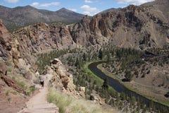 Valleivloer van de Bochtige Rivier stock fotografie