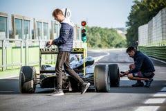 Vallelunga, Италия 24-ое сентября 2017 Одиночный автомобиль формулы o seater Стоковые Фото