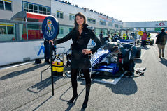 VALLELUNGA CIRCUIT, ROME, ITALY - NOVEMBER 2 2008. Grid girl Royalty Free Stock Photography