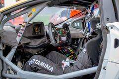 Vallelunga, Itália 24 de setembro de 2017 Visitando o motorsport c de competência Imagem de Stock