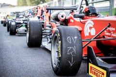 Vallelunga, Italia 24 de septiembre de 2017 Solos coches de fórmula del seater Imagen de archivo libre de regalías
