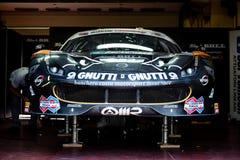 Vallelunga, Italia 24 de septiembre de 2017 Viajar al coche de competición de Ferrari Fotografía de archivo libre de regalías