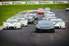 Vallelunga, Italie le 24 septembre 2017 Groupe de voyager la voiture de course Image stock