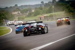Vallelunga, Italie le 24 septembre 2017 Groupe huracan o de Lamborghini Photos stock