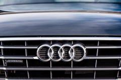 Vallelunga, Italien am 24. September 2017 Audi, das Sportwagen fron bereist lizenzfreies stockbild