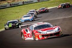 Vallelunga, Italien am 24. September 2017 Gruppe Reisen von Motorsport Stockfotografie