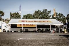 Vallelunga, Roma, Italia 24 de junio de 2017 Espacio de Pirelli para competir con Imagenes de archivo