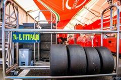 Vallelunga, Roma, Italia 24 de junio de 2017 Fórmula italiana 4 Abarth Fotos de archivo libres de regalías