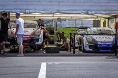 Vallelunga, Roma, Italia 24 de junio de 2017 Italiano Porsche Carrera C Imagenes de archivo