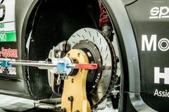 Vallelunga, Rome, Italie le 8 septembre 2018, des disques de frein détaillent dessus photos stock