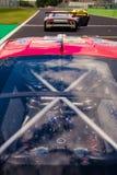 Vallelunga, Rome, Italie le 8 septembre 2018, Ferrari voyageant l'emballage images libres de droits