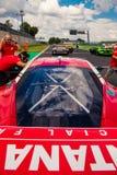 Vallelunga, Rome, Italie le 8 septembre 2018, Ferrari voyageant l'emballage photographie stock libre de droits