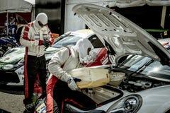Vallelunga, Rome, Italie le 8 septembre 2018, voiture de course de Porsche dedans images libres de droits