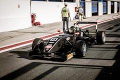 Vallelunga, Rome, Italie le 8 septembre 2018, voiture de la formule 4 dans le puits l image stock
