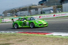 Vallelunga, Rome, Italie 10 septembre 2016 Cu de Porsche Carrera Image stock