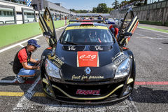 Vallelunga, Rome, Italy. June 24 2017. Italian Super Cup, Renaul Royalty Free Stock Photos