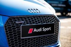 Vallelunga, Włochy Wrzesień 24 2017 Audi sportowego samochodu krajoznawczy fron Obrazy Stock