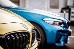 Vallelunga, Włochy Wrzesień 24 2017 Para BMW krajoznawczy touri Zdjęcia Stock