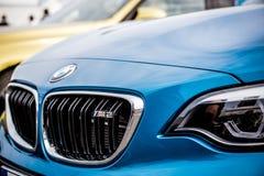 Vallelunga, Włochy Wrzesień 24 2017 Para BMW krajoznawczy touri Zdjęcia Royalty Free