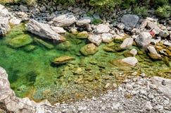 Vallemaggia den längsta alpina dalen i kantonen av Ticino i Schweiz Arkivfoton