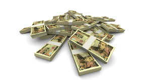 Vallend 10000 Japanse Realistische Yen (JPY) Pakken - stock illustratie