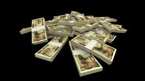 Vallend 10000 Japanse Yen (JPY) Pakken (met Steen) vector illustratie