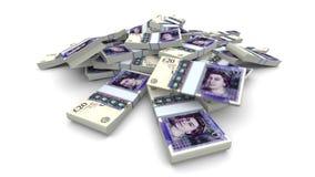 Vallend 20 Ponden (van GBP) Pakken - de Realistische vector illustratie