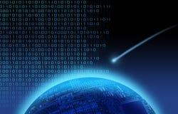 Vallend ster over binaire wereld stock illustratie